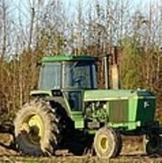 Green Tractor Art Print