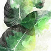 Green Tropical Art Print