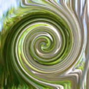 Green Twirl Art Print