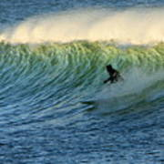 Green Wall Surfer Art Print