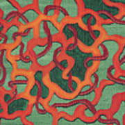 Green Waves Art Print