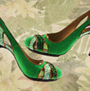 Green With Envy Pumps Art Print
