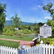 Greenbrier County Historical Marker In Alderson West Virginia Art Print