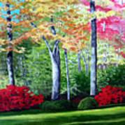 Greenfield Lake Garden Art Print