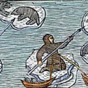 Greenland Eskimos, 1555 Art Print