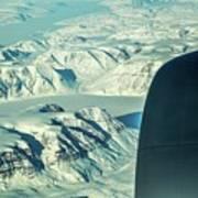 Greenland From Flight Level 380 Art Print