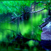 Greens 01 Art Print