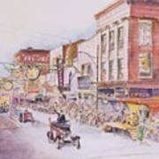 Greensboro Christmas Parade 1960 Art Print