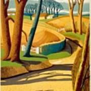 Greet The Sun By London Underground - Metro, Suburban - Retro Travel Poster - Vintage Poster Art Print