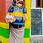 Greeter At Pizzeria In La Boca Area Of Buenos Aires-argentina- Art Print
