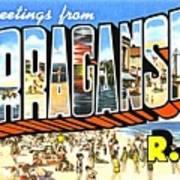 Greetings From Narragansett Rhode Island Art Print