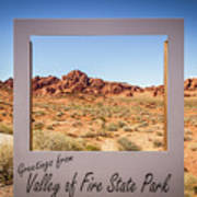 Greetings From Valley Of Fire Art Print