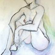 Gretchen - Female Nude Drawing Art Print