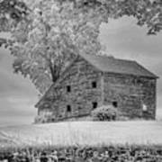 Grey Barn On A Grey Day Art Print