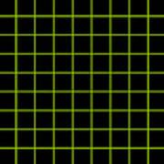 Grid Boxes In Black 09-p0171 Art Print