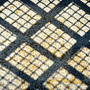 Grid Shadow On Concrete Art Print