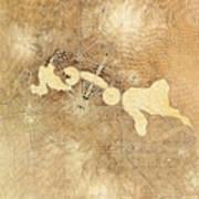 Griffin Plan Canberra 1912 Art Print