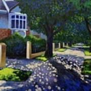 Griffith Avenue Through The Trees Art Print