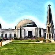 Griffith Observatory, Los Angeles, California Art Print