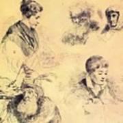 Griffonnage 1814 Art Print
