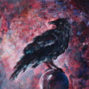 Grim And Ancient Raven Art Print