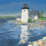 Grindle Point Light Art Print by Dominic White