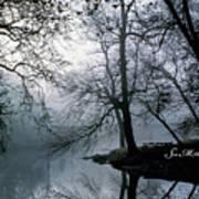 Grings Mill Fog 1043 Art Print