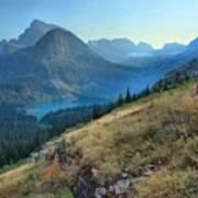 Grinnell Glacier Trail Hiker Art Print
