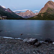 Grinnell Point Over Swiftcurrent Lake Art Print