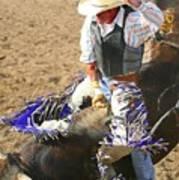 Gripping Bull Rider ... Montana Art Photo  Art Print