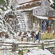 Grist Mill, 19th Century Art Print