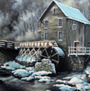 Grist Mill Art Print