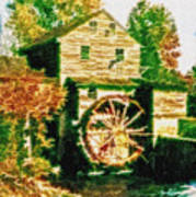 Grist Mill Tranquility Art Print