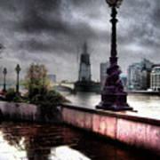 Gritty Urban London Landscape Art Print