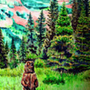 Grizzly Country Art Print