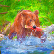 Grizzly Delights Art Print