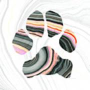 Groovy Dog Paw - Sharon Cummings  Art Print