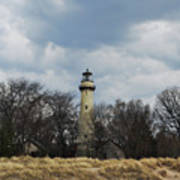 Grosse Point Lighthouse Portrait Art Print