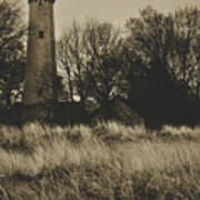 Grosse Point Lighthouse Sepia Art Print