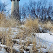 Grosse Point Lighthouse Winter Dunes Art Print