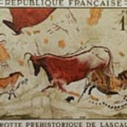 Grotte Prehistorique De Lascaux Art Print