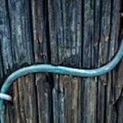 Copper Ground Wire On Utility Pole Art Print