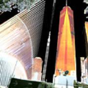 Ground  Zero Freedom Tower Formerly World Trade  Centre Wtc New York Photo Taken On July 4 2015 Usa  Art Print