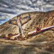 Grounded Plane Wreck Art Print