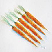 Group Of Carrots Art Print