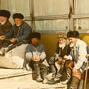 Group Of Uzbek Retirees Art Print