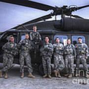 Group Photo Of Uh-60 Black Hawk Pilots Art Print