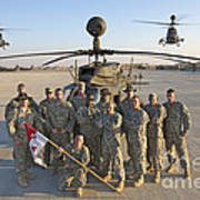 Group Photo Of U.s. Soldiers At Cob Art Print