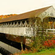 Groveton-northumberland Covered Bridge Art Print