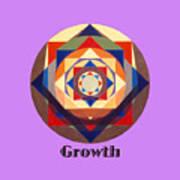 Growth text Art Print
